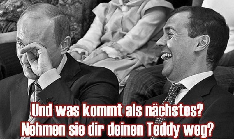 Putin lacht